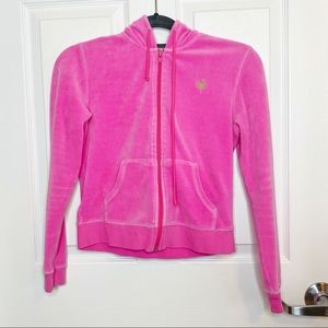 Lilly Pulitzer embroidered zip up hoodie G30